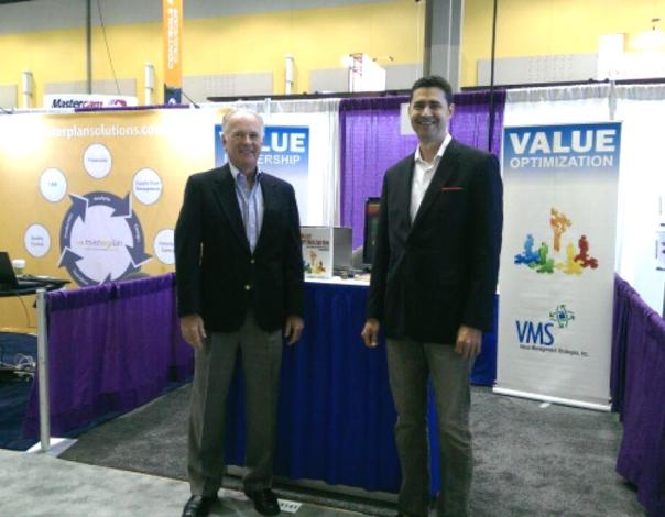 VMS Chairman Terry Hays & CEO/President Rob Stewart at IMTS 2014